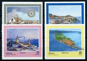 Italy Tourism & Landscapes Stamps 2019 MNH Saluzzo Orbetello Troia 4v S/A Set
