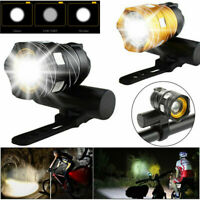 15000LM Rechargeable Bicycle Headlight Light XM-L T6 LED MTB Bike Front Light D
