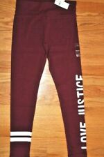 "Justice Girls' Size 18/20 Full Length Leggings with ""LOVE JUSTICE"" Graphic"