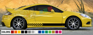 Decal sticker Stripe turbo For Mitsubishi Eclipse Carbon mirror 1990 2012 DSM 1