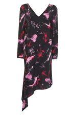 Topshop 'he Loves Me' 100 Silk Dress Sz 8 Us/eu 40 Black Floral