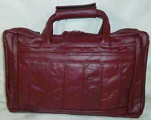 Laptop Case/Carry-On - 100% Top Grain Leather, Burgundy [0049]
