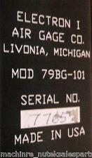 Air Gage Company 79BG-101 _ 79BG101 _ Electron 1 Column Module w/ DRO Module