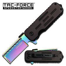 "Tac Force Knives Speedster Rainbow/Black Razor 3 1/2"" Closed Knife New TF748RBR"