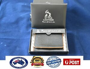 Men's Premium Genuine Leather Business Credit Card ID Cash Coin Trifold Wallet