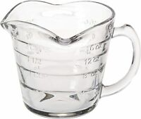 Triple Pour Measuring Cup Glass 16 ounce Embossed Lettering Wont Fade Perfect