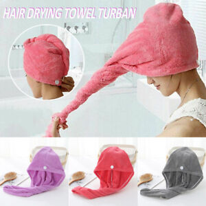 For 100% Cotton Large Hair Dry Towel Hair Drying Wrap Bath Towels Caps Hats