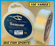 SEAGUAR BLUE LABEL FLUOROCARBON Leader 20lb-100yd NEW! 20 FC 100 FREE USA SHIP!