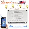 UK Sonoff 4CH Pro 4-way mounting Remote WiFI Wireless 433MHZ Smart Switch