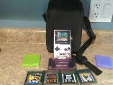 Nintendo Game Boy Color Handheld Console - Atomic Purple. With Case Games