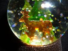 Hallmark Gift Bag Reindeer in Evergreens Lighted Snow Globe Glitter NEW