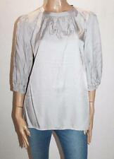 ESPRIT Brand Silver Silky 3/4 Sleeve Blouse Top Size 8 BNWT #SK01