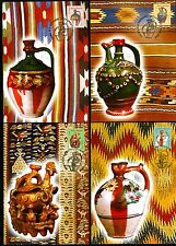 2006 Pottery,Wedding Pots,Hen,chicks,snake,Carpets,Romania,M.6091,FDC maxi cards