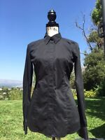 Noble Outfitters Equestrian Ladies Perfect Fit Western Show Shirt MED BLK