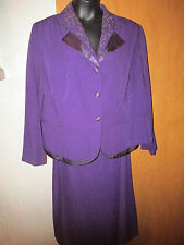 Danny & Nicole EggPlant colored skirt set with Beaded collar & long sleeves 20W