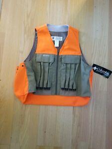 VTG Columbia Quickloader Blaze Orange Upland Pheasant Hunting Game Vest L NWT