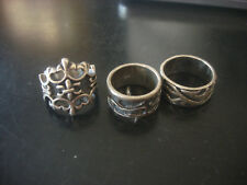 30.8 Grams Lot Of Sterling Silver Jewelry Fleur Rings ALL MARKED 925