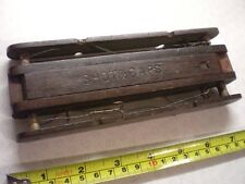 A VERY EARLY DARK HARDWOOD FLOAT/TACKLE WINDER