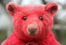BEAUTIFUL DANY BAEREN ANTIQUE STYLE RED MOHAIR TEDDY BEAR 2008 WITH TAG