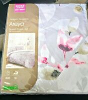 Dunelm Double Duvet & Pillowcases New 200 x 200cm Areya