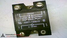 POTTER AND BRUMFIELD SSRT-120D10 SOLID STATE RELAY 120VAC 3-32VDC 10A, S #149135