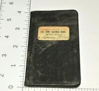 1928 Detroit Michigan Dime Saving Bank Book Mini Pocket Parker Sproat Branch VTG