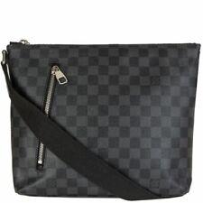59823 auth LOUIS VUITTON Graphite Damier canvas MICK PM Messenger Bag