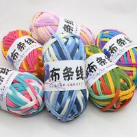 KQ_ 1 Ball Soft Polyester Cloth Bag Pouch Yarn Elastic Knitting Fabric DIY 100g