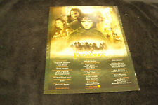 Lord Of The Rings Fellowship Of The Ring Oscar ad cast, Frodo, Legolas, Arwen