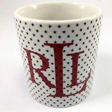 Ralph Lauren Coffee Mug Red White Blue Stars RLL RL