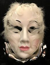 NAO Ceramic Mardi Gras Mask w/ Display Hands