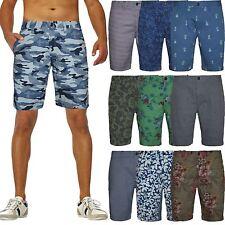 Mens Ex-Zara Chino Shorts Bottom Knee Length Straight Pants Cotton Casual Summer