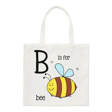 Letter B Is For Bee Small Tote Bag - Alphabet Cute Funny Shopper Shoulder