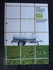 BSA Pumptankwagen Supertanker - Prospekt Brochure 90er-Jahre (0069
