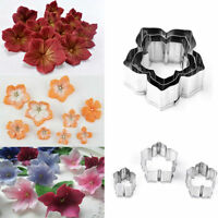 3Pcs Flower Stainless Steel Fondant Cake Cookies Cutter Mold Decorating Tool DIY