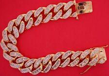 EXCLUSIVE Miami Cuban Link Bracelet Baguette & Round Diamonds 14k Rose Gold !!!!