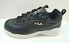 Fila Size 8 Black Leather Sneakers New Womens Shoes