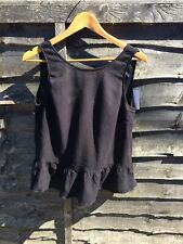 H&M Black Backless Top Size 10