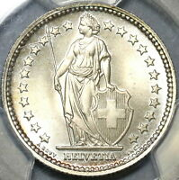 1941 PCGS MS 66 Switzerland 2 Francs Gem Mint State Swiss Silver Coin (20040801C