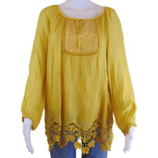 Made in Italy Romantic Bohemian Italian Peasant Top - Imported Size M/L