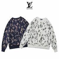 mens women unisex vintage crew neck cotton jumper tops regular fit sweatshirt