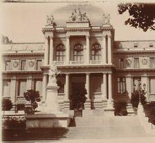 PHOTO ANCIENNE LAUSANNE PALAIS DE JUSTICE  LAC LEMAN SUISSE 12 X 9 cm vers 1900