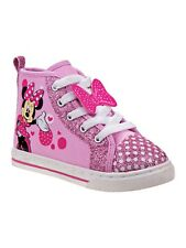Disney Kids Minnie Mouse High Top Sneaker Pink (Toddler/Little)