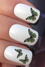 Acqua per unghie trasferimenti Occhio Di Pavone Piuma farfalla tattoo decalcomanie adesivi * 631