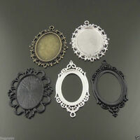 5pcs Mix Tone Various Style Oval Cameo Setting inner 40*30mm Finding Hot 37989