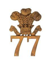 More details for 77th middlesex regiment 2nd battalion glengarry badge brass metal