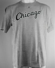 Chicago White Sox MLB Majestic Men's Gray Wordmark Tee
