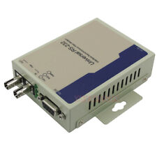 Industrial Bidirectional RS232 Optical MODEM Serial to Fiber Converter DB9 SM ST