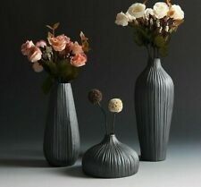 Room Table Decor Classic Flower Vase Ceramic Black Traditional Chinese Style New