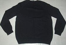 COS JUMPER WOOL SWEATER KNIT BLACK CREW NECK FITTED SMALL MEDIUM